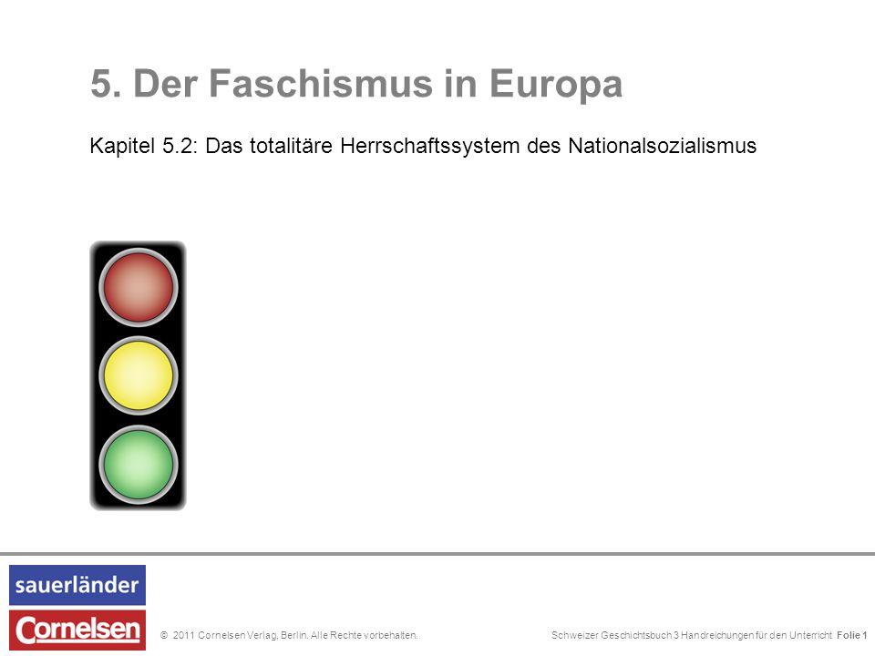 Schweizer Geschichtsbuch 3 Handreichungen für den Unterricht Folie 0© 2011 Cornelsen Verlag, Berlin. Alle Rechte vorbehalten. 5. Der Faschismus in Eur
