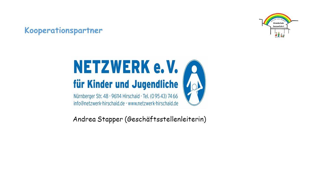 Andrea Stapper (Geschäftsstellenleiterin) Kooperationspartner
