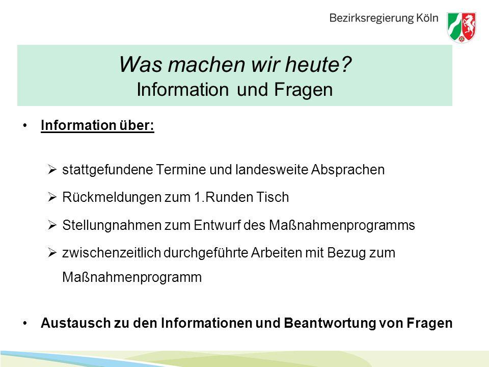 Arbeiten der Wasserbehörden VortragVortrag von Herrn Norbert Pütz Bezirksregierung Köln