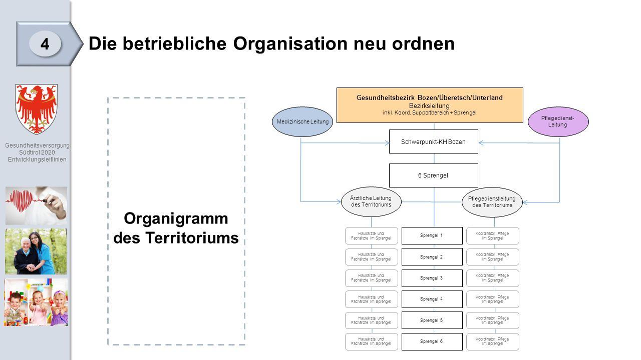 Gesundheitsversorgung Südtirol 2020 Entwicklungsleitlinien Gesundheitsbezirk Bozen/Überetsch/Unterland Bezirksleitung inkl.