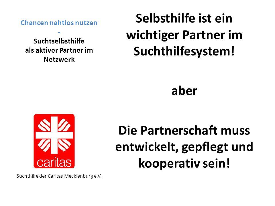 Chancen nahtlos nutzen - Suchtselbsthilfe als aktiver Partner im Netzwerk Selbsthilfe ist ein wichtiger Partner im Suchthilfesystem.