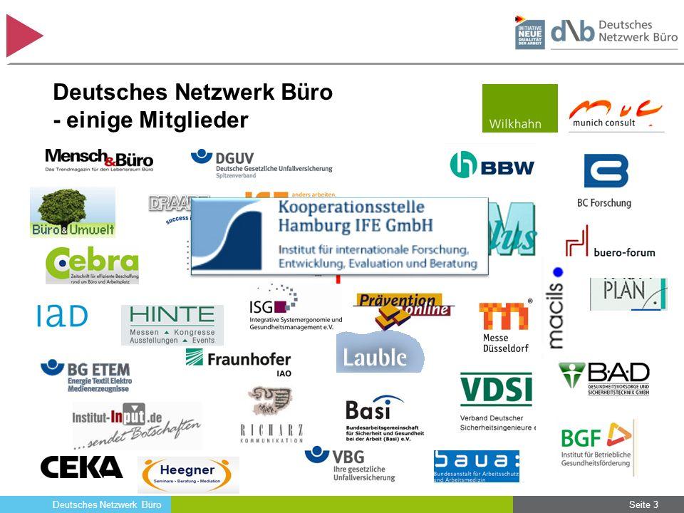 Deutsches Netzwerk Büro Herausforderungen und Anforderungen an die Büroarbeit – Ein erstes Fazit Die Intensivierung und Verdichtung der Büroarbeit wächst kontinuierlich.