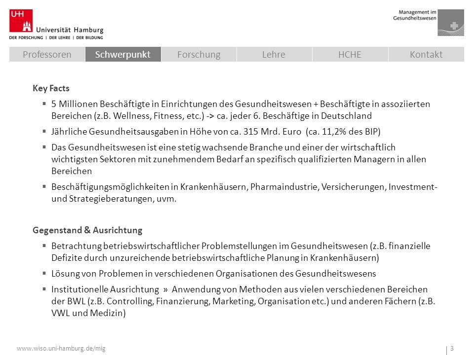 www.wiso.uni-hamburg.de/mig 3 Key Facts  5 Millionen Beschäftigte in Einrichtungen des Gesundheitswesen + Beschäftigte in assoziierten Bereichen (z.B.