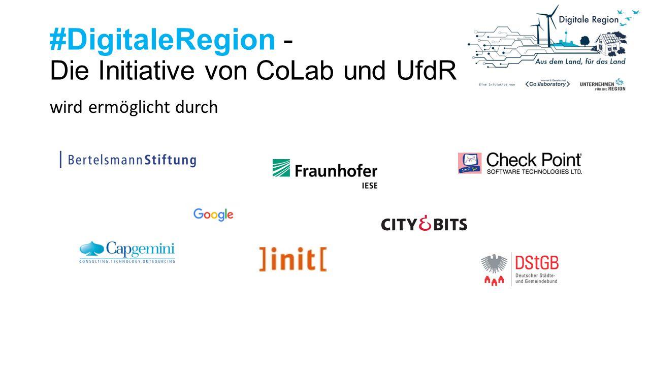 #DigitaleRegion - Die Initiative von CoLab und UfdR wird ermöglicht durch