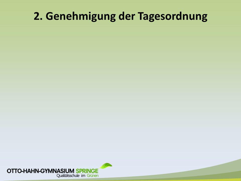 3. Protokoll a)Genehmigung des Protokolls vom 10.12.14