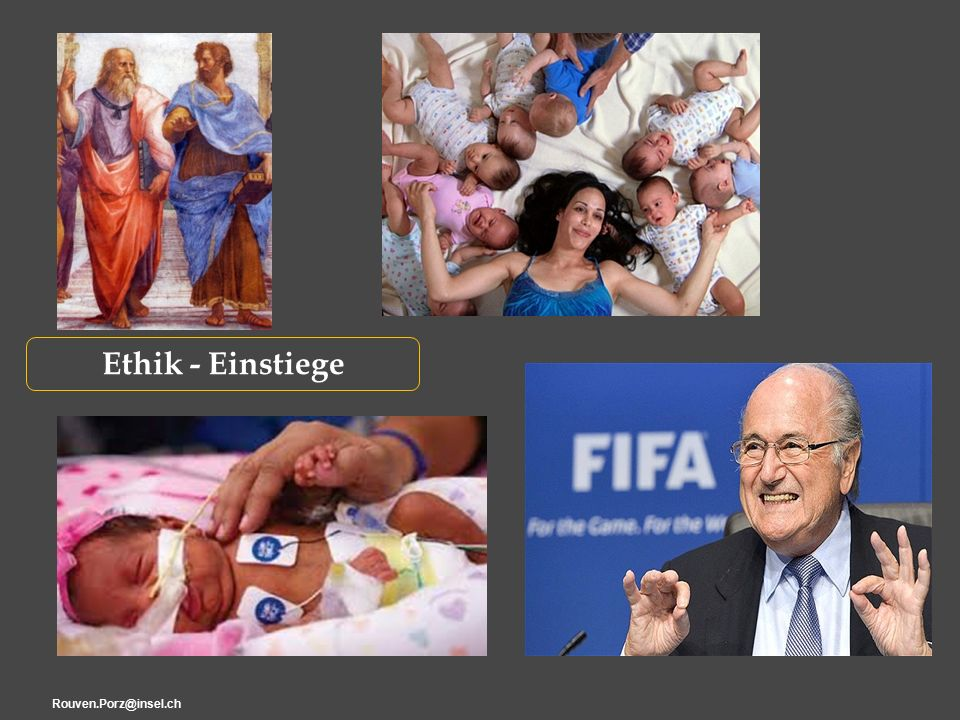 Rouven.Porz@insel.ch13 Berufsrolle ZWISCHEN FAZIT : Klinische Ethik Beschäftigt sich vorrangig mit «Gewissenskonflikten» d.h.
