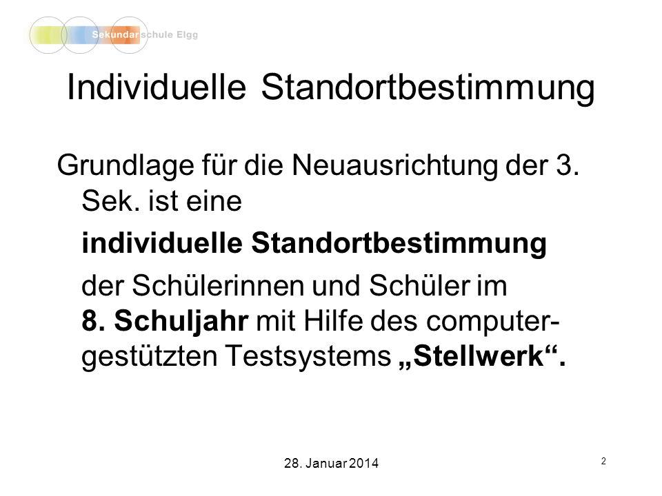 Projektunterricht 23 28. Januar 2014
