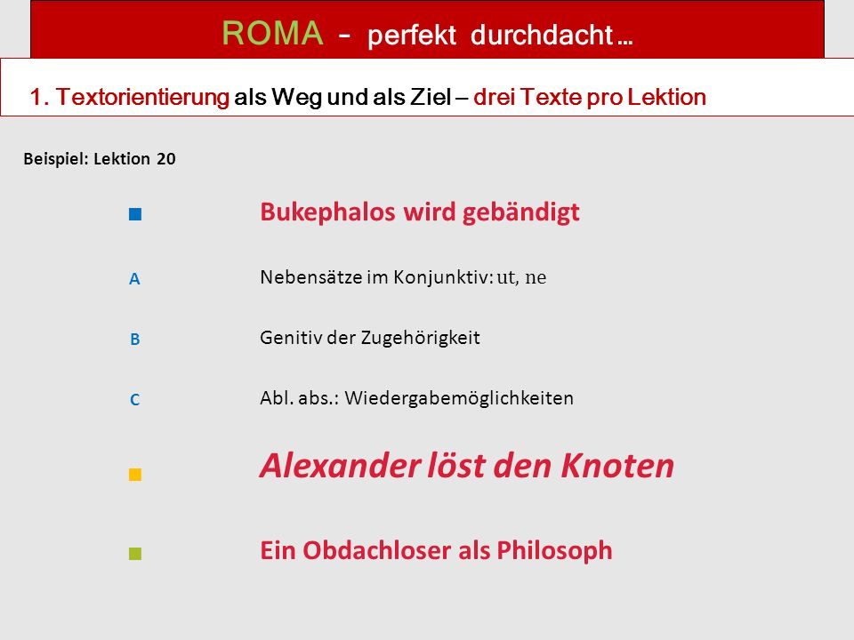 ROMA – perfekt durchdacht … 1.