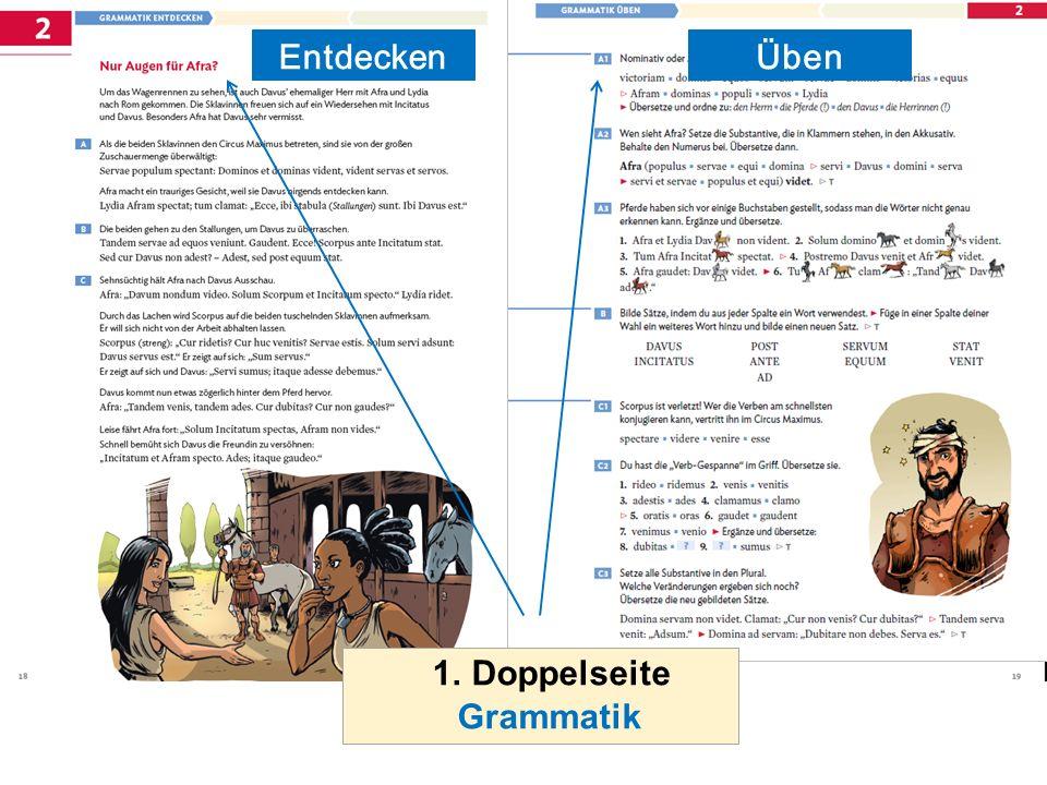 Entdecken 1. Doppelseite Grammatik Üben