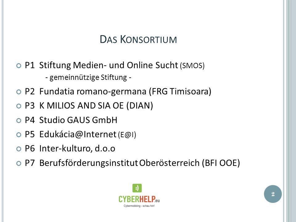 D AS K ONSORTIUM P1 Stiftung Medien- und Online Sucht (SMOS) - gemeinnützige Stiftung - P2 Fundatia romano-germana (FRG Timisoara) P3 K MILIOS AND SIA
