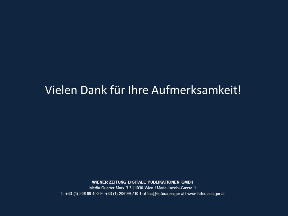 WIENER ZEITUNG DIGITALE PUBLIKATIONEN GMBH Media Quarter Marx 3.3 | 1030 Wien I Maria-Jacobi-Gasse 1 T: +43 (1) 206 99-400 F: +43 (1) 206 99-710 I off
