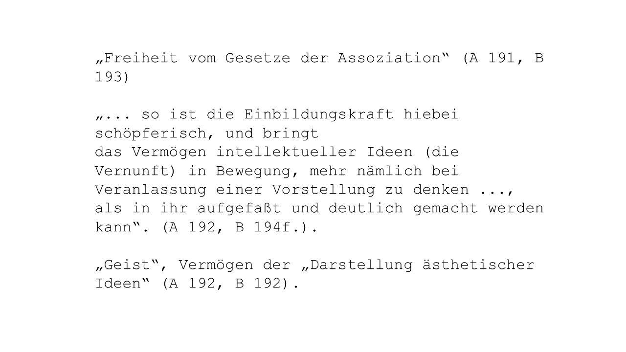 """""""Freiheit vom Gesetze der Assoziation (A 191, B 193) """"..."""