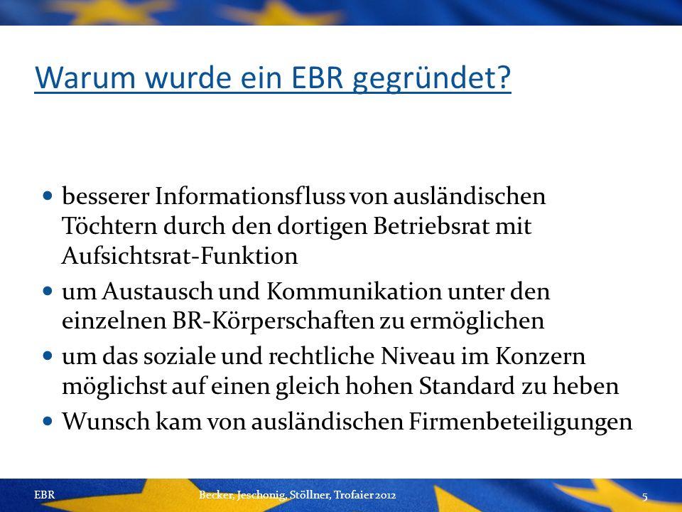 Warum wurde ein EBR gegründet.