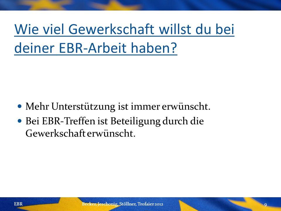 Wie viel Gewerkschaft willst du bei deiner EBR-Arbeit haben.
