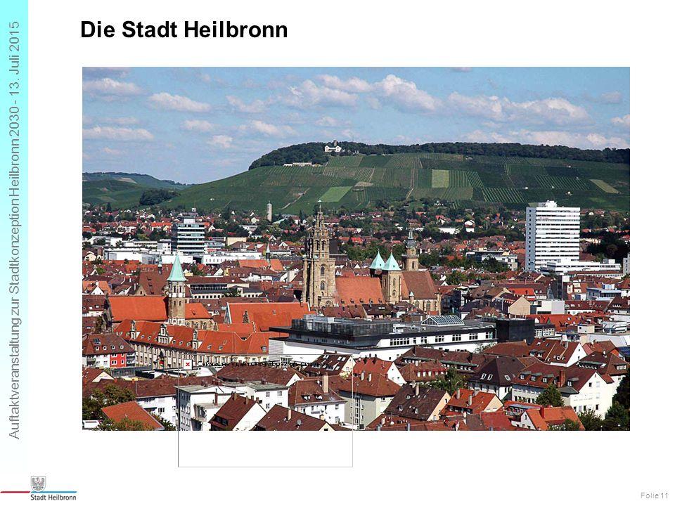 Auftaktveranstaltung zur Stadtkonzeption Heilbronn 2030 - 13. Juli 2015 Die Stadt Heilbronn Folie 11