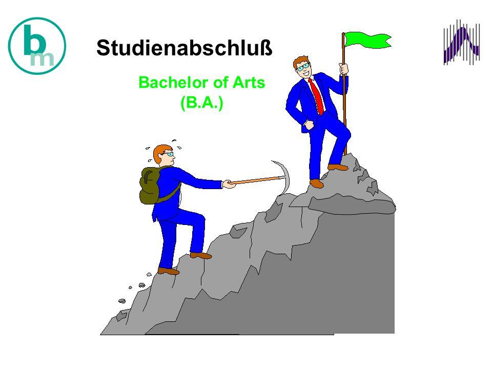 Bachelor of Arts (B.A.) Studienabschluß