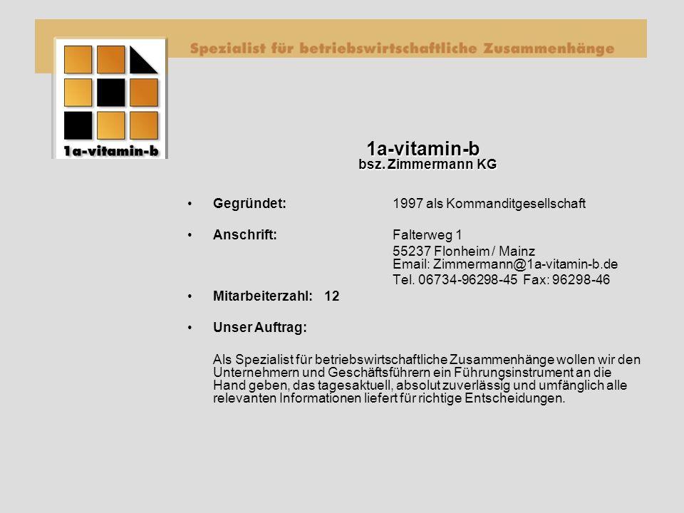 1a-vitamin-b bsz. Zimmermann KG 1a-vitamin-b bsz.