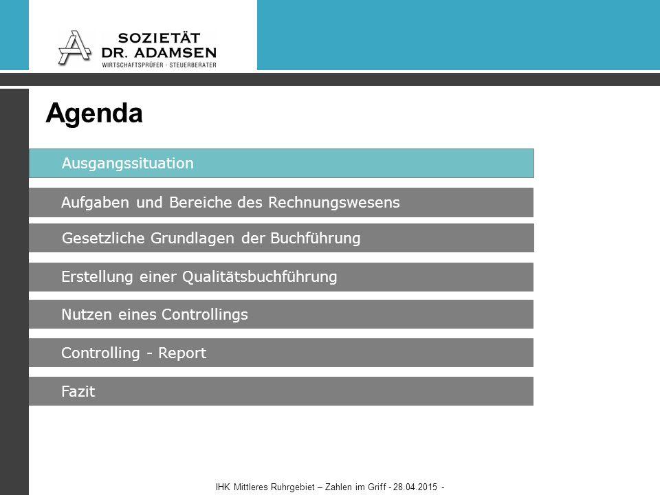 So korrigiert die Bank ihre BWA IHK Mittleres Ruhrgebiet – Zahlen im Griff - 28.04.2015 -34