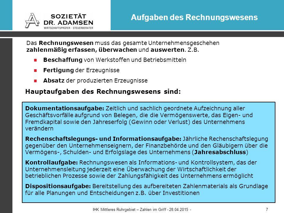 Wichtige Neuregelungen durch die GoBD Mandantenveranstaltung - Buchführung mit digitalen Belegen - 23.04.201518 Wichtige Neuregelungen der GoBD Vollständigkeit  Alle Geschäftsvorfälle müssen vollständig, lückenlos ohne Mehrfachaufzeichnungen erfasst werden  Angaben zur Kontierung können entfallen, wenn z.B.
