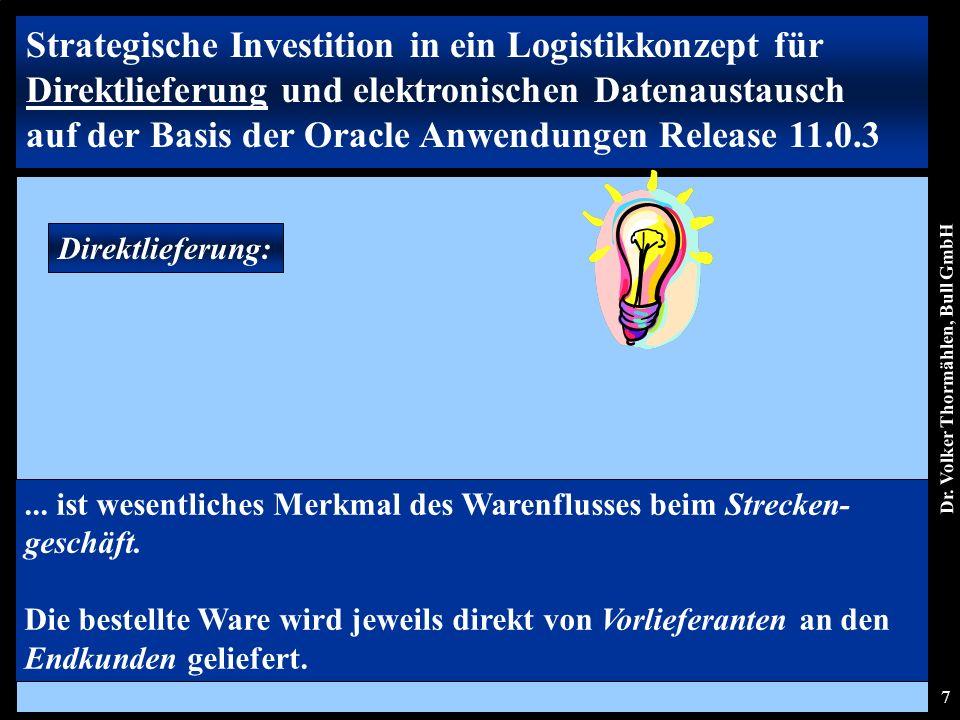 Dr. Volker Thormählen, Bull GmbH 7 Direktlieferung:...