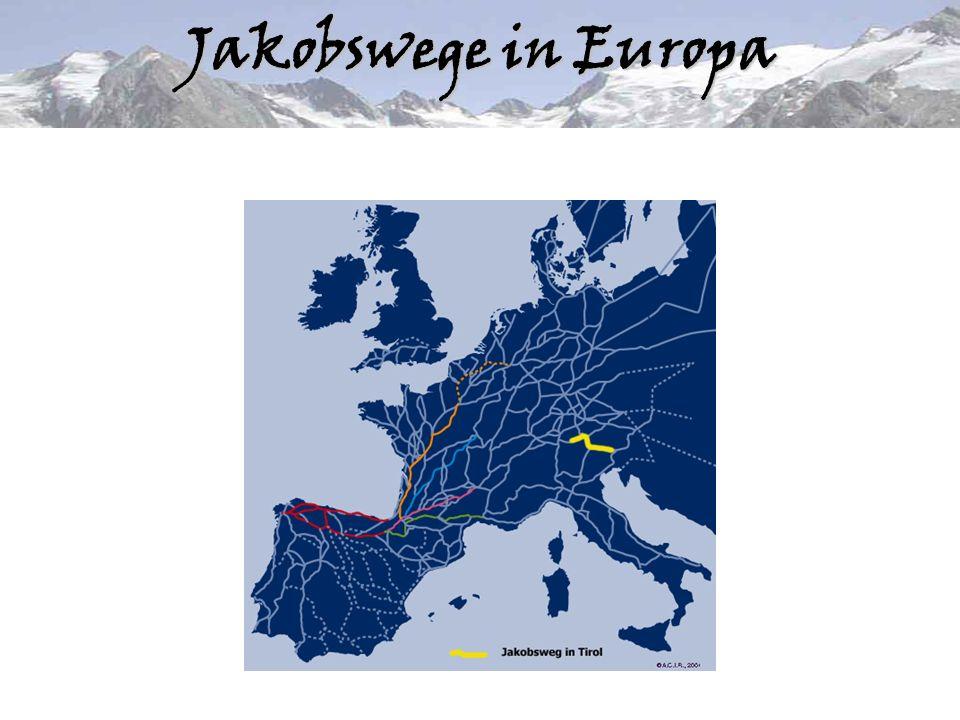 Geschichte des Jakobsweges Um das Jahr 1000 entsteht die Legende vom Hl.