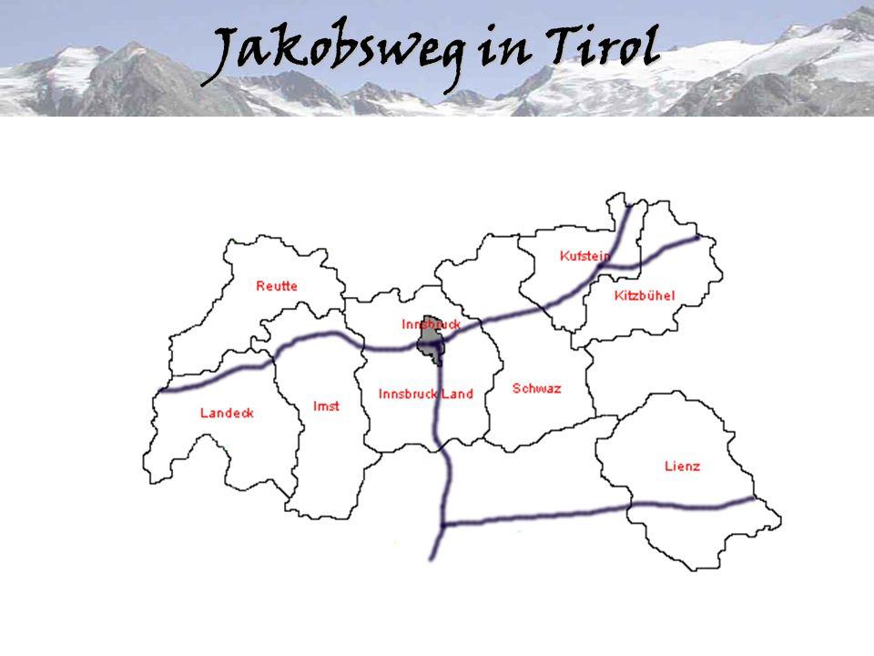 """–Kulturelle Präsentation Tirols anhand der verbindenden Linie des Jakobsweges; –Schaffung eines Angebotes, das auf die spirituellen Wünsche der Menschen eingeht; –Förderung des """"langsamen Tourismus (slow-tourism); –Verbreiterung des Qualitätsangebotes für die Gäste;Idee"""