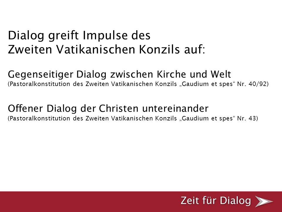 Dialog im Licht des Evangeliums Anstöße zum geistlichen Dialog Leitfaden Kurzfassung Dialog-Schritte