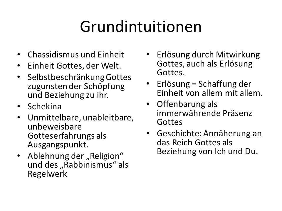 Grundintuitionen Chassidismus und Einheit Einheit Gottes, der Welt.