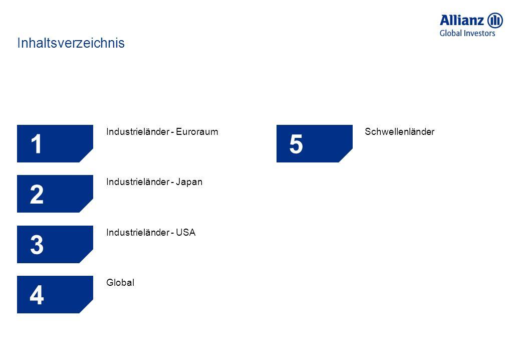 Inhaltsverzeichnis 1 Industrieländer - Euroraum 5 Schwellenländer 2 Industrieländer - Japan 6 3 Industrieländer - USA 7 4 Global