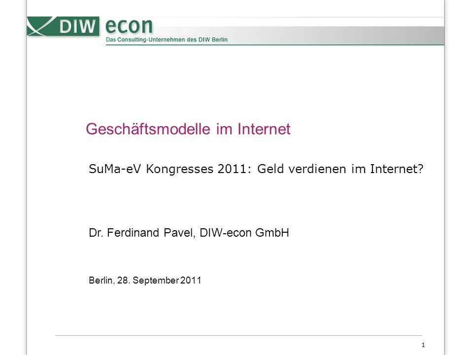 1 Geschäftsmodelle im Internet Berlin, 28.