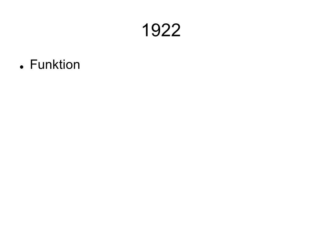 1922 Funktion