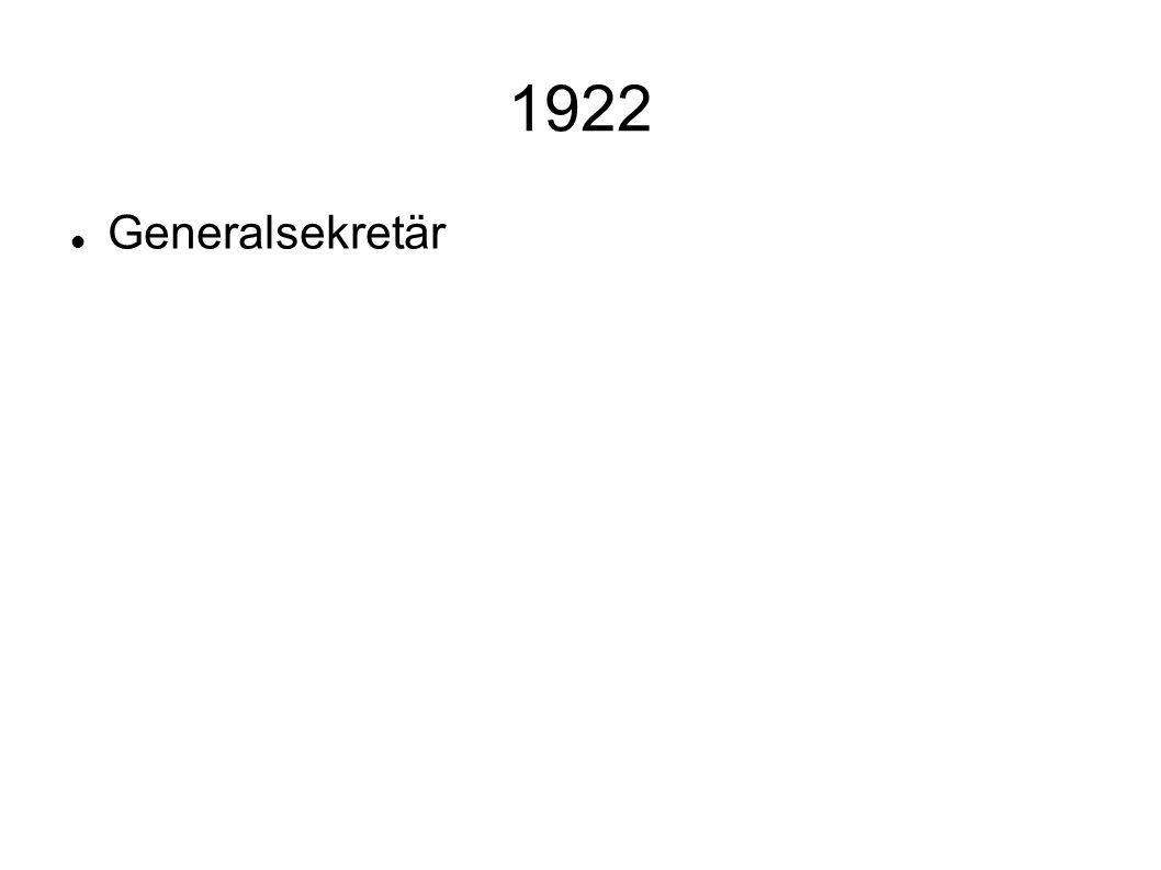 1922 Generalsekretär