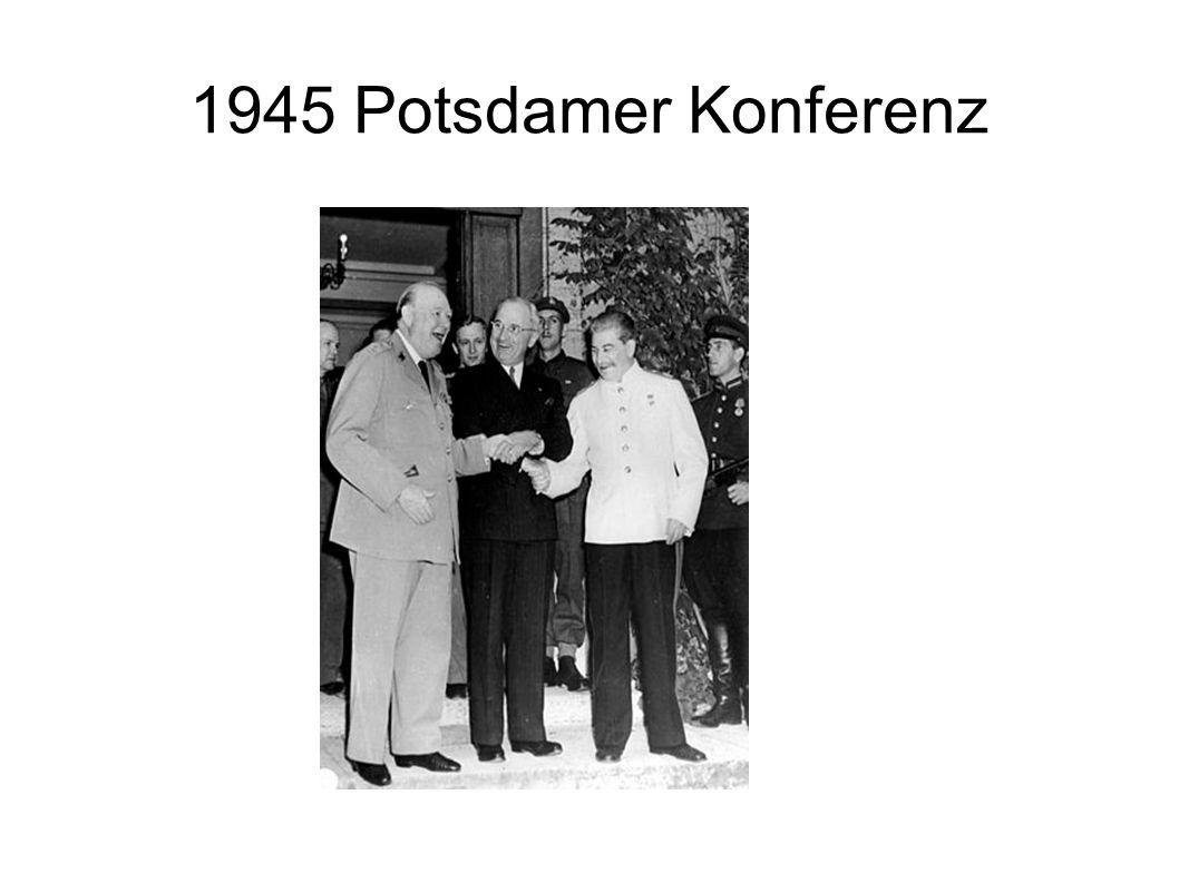 1945 Potsdamer Konferenz