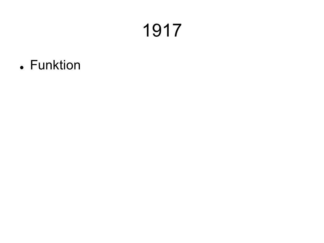 1917 Funktion