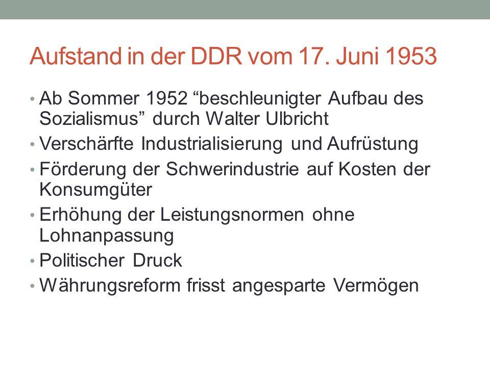 Aufstand in der DDR vom 17.
