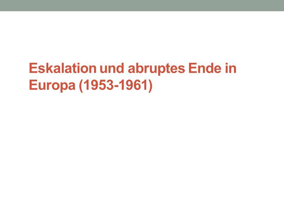 Eskalation und abruptes Ende in Europa (1953-1961)