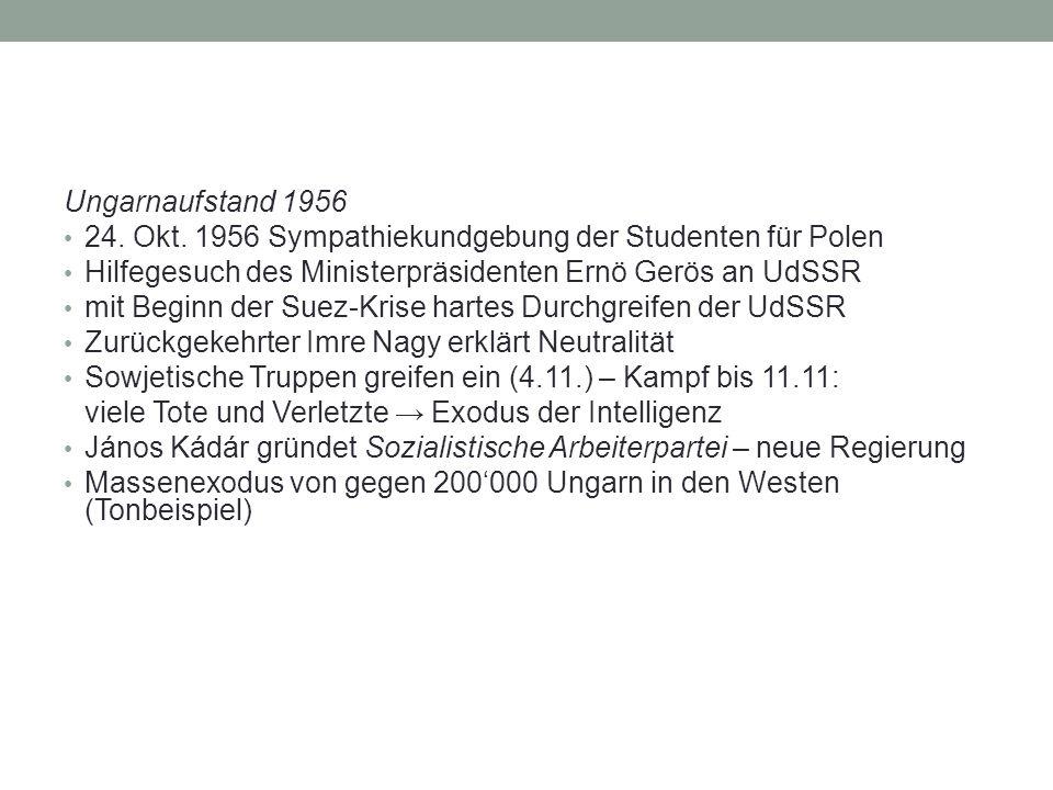 Ungarnaufstand 1956 24. Okt.