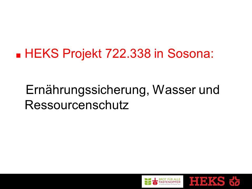 HEKS Projekt 722.338 in Sosona: Ernährungssicherung, Wasser und Ressourcenschutz