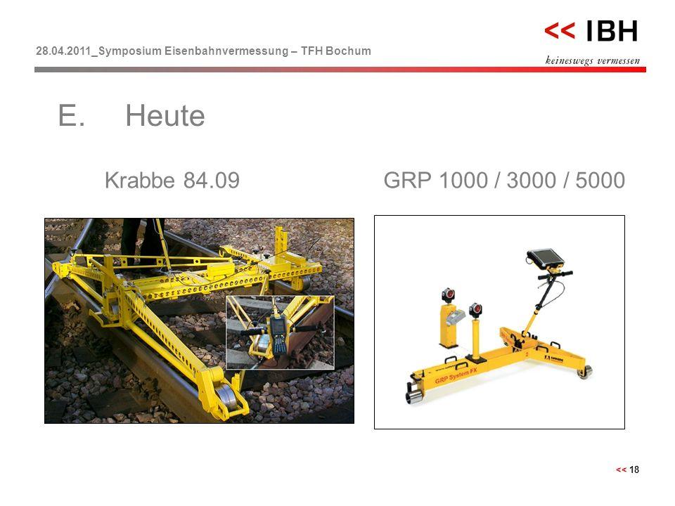 28.04.2011_Symposium Eisenbahnvermessung – TFH Bochum << 18 Krabbe 84.09 E.Heute GRP 1000 / 3000 / 5000
