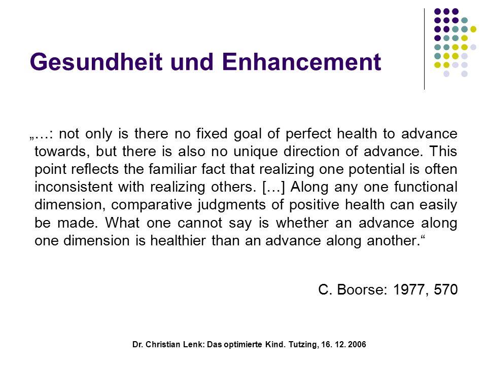 Dr.Christian Lenk: Das optimierte Kind. Tutzing, 16.
