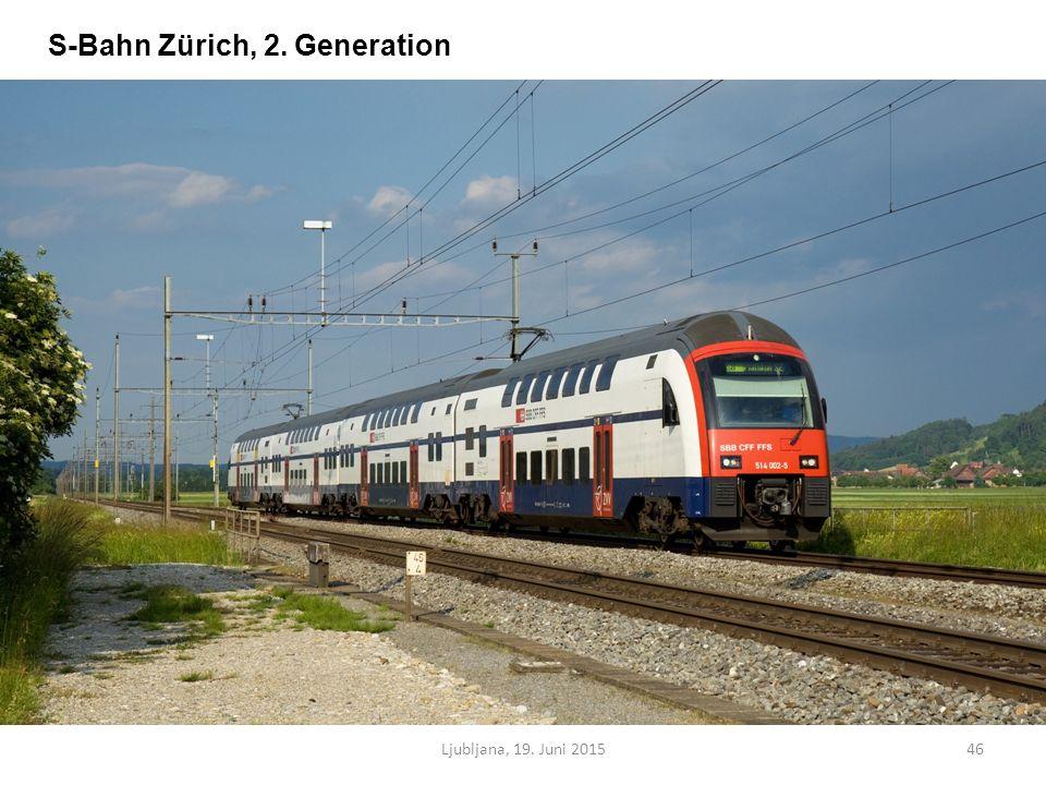 Ljubljana, 19. Juni 201546 S-Bahn Zürich, 2. Generation
