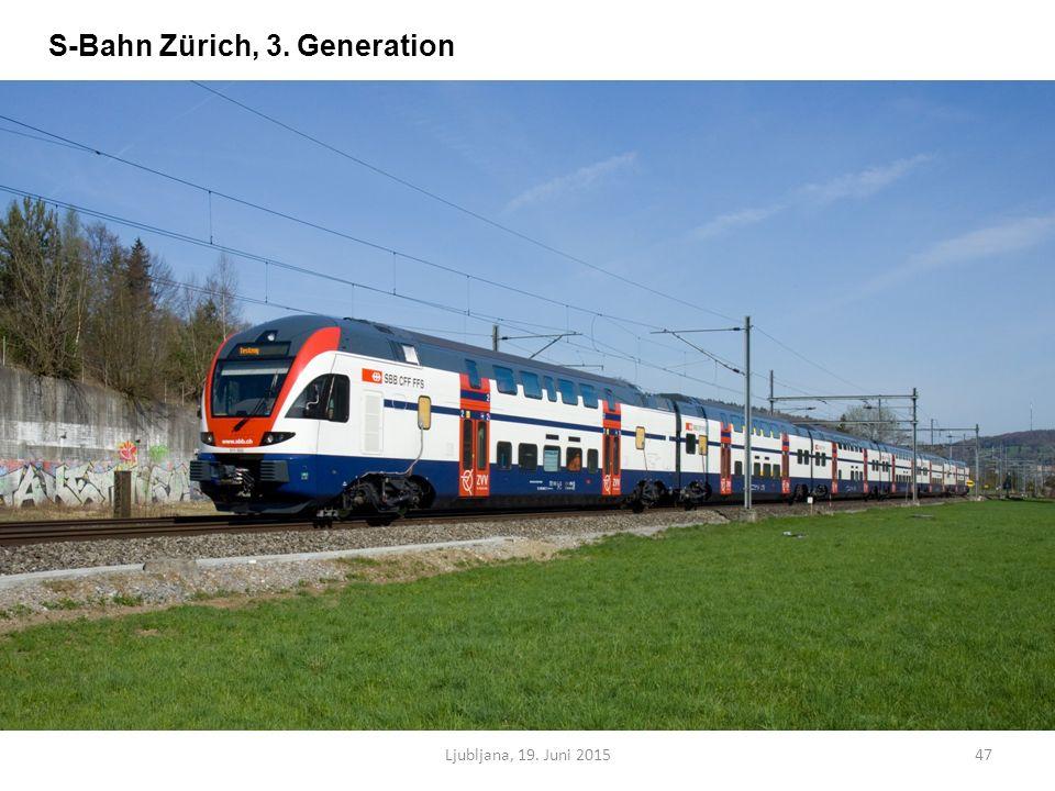 Ljubljana, 19. Juni 201547 S-Bahn Zürich, 3. Generation