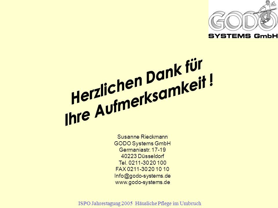 Susanne Rieckmann GODO Systems GmbH Germaniastr. 17-19 40223 Düsseldorf Tel.