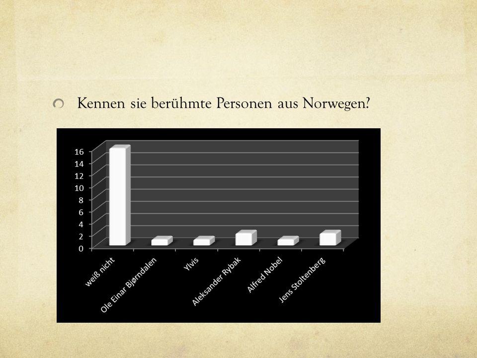 Können Sie die Norweger mit einem Wort beschreiben.