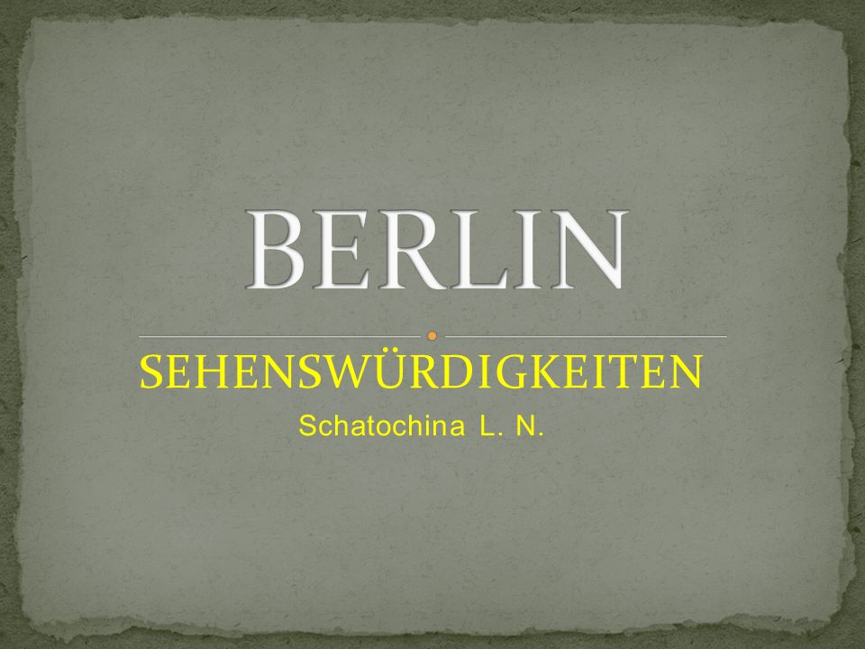 Die Hauptstadt Deutschlands heißt Berlin.Berlin liegt am Fluss Spree.