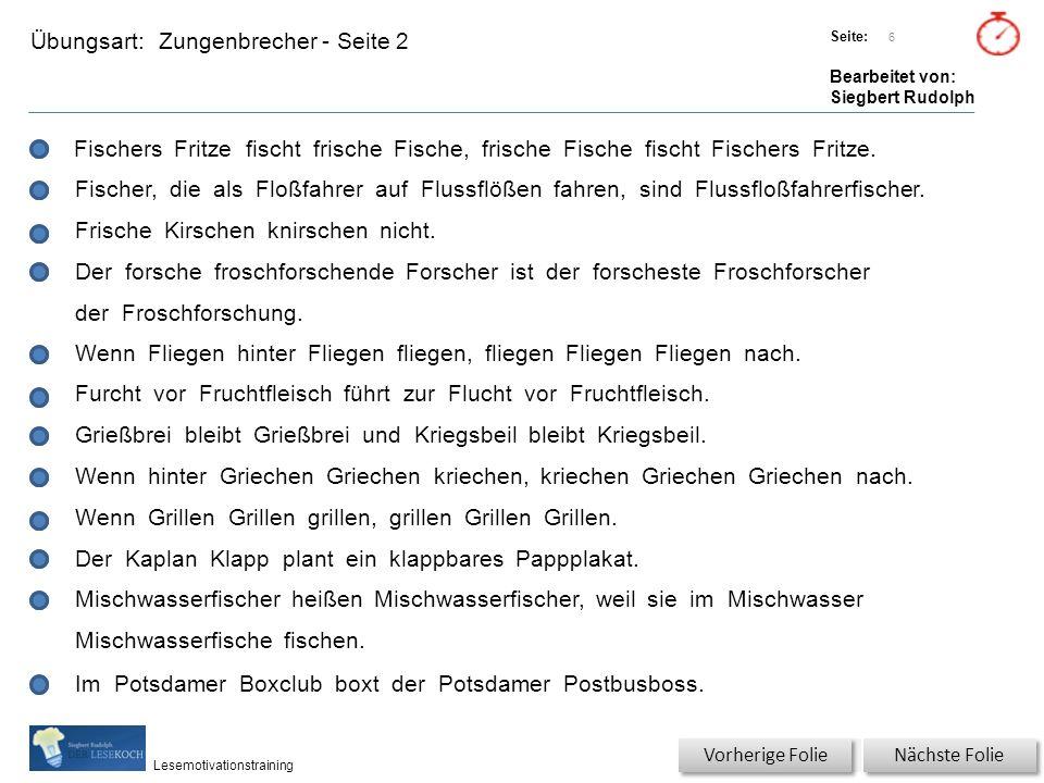 Übungsart: Titel: Quelle: Seite: Bearbeitet von: Siegbert Rudolph Lesemotivationstraining Erklärung Titel: Quelle: Nächste Folie Vorherige Folie Wo liegt Potsdam.