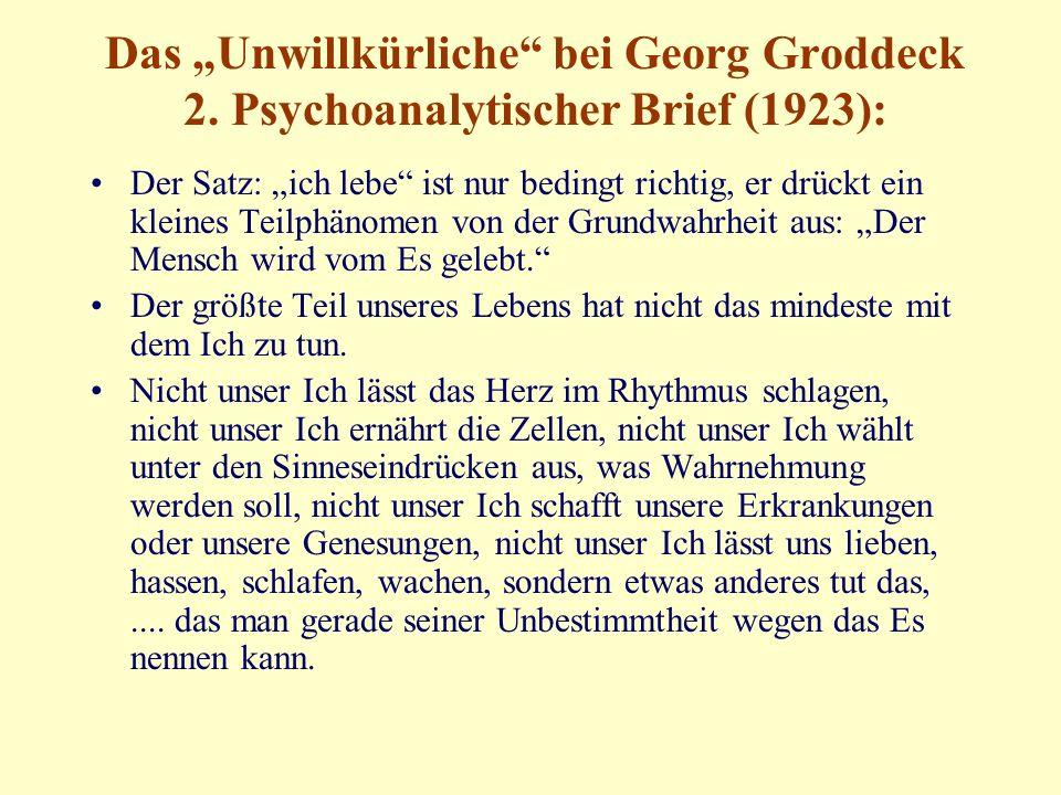 """Das """"Unwillkürliche bei Georg Groddeck 2."""