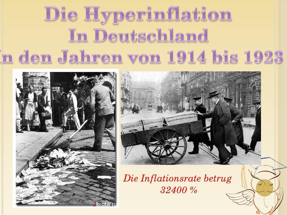 1.Die extreme Inflation der Weimarer Republik in den frühen 1920ern 2.