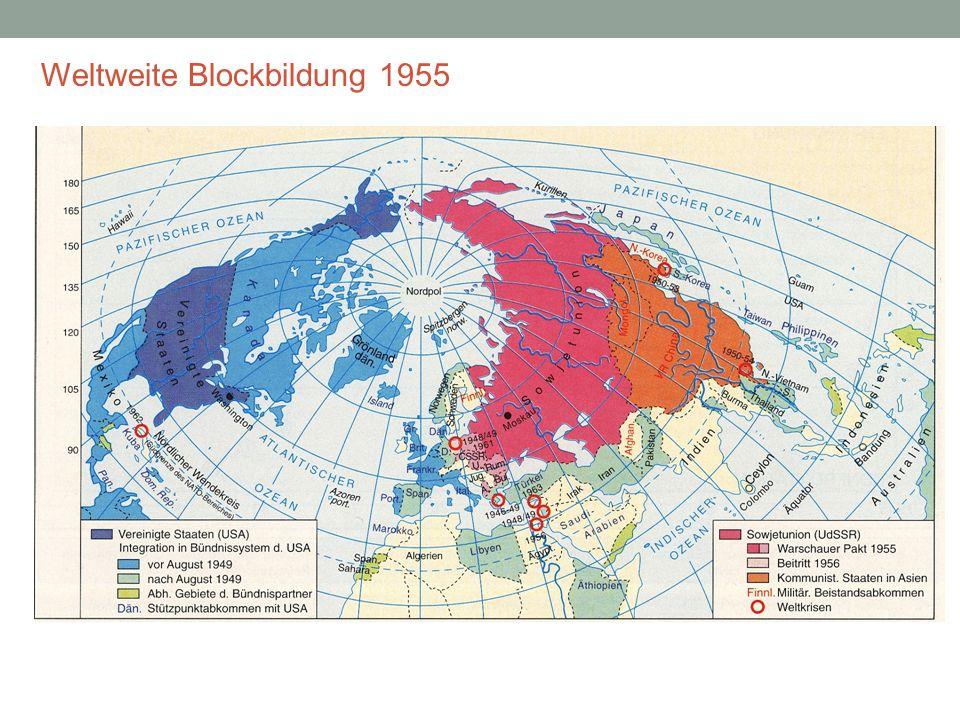 Weltweite Blockbildung 1955