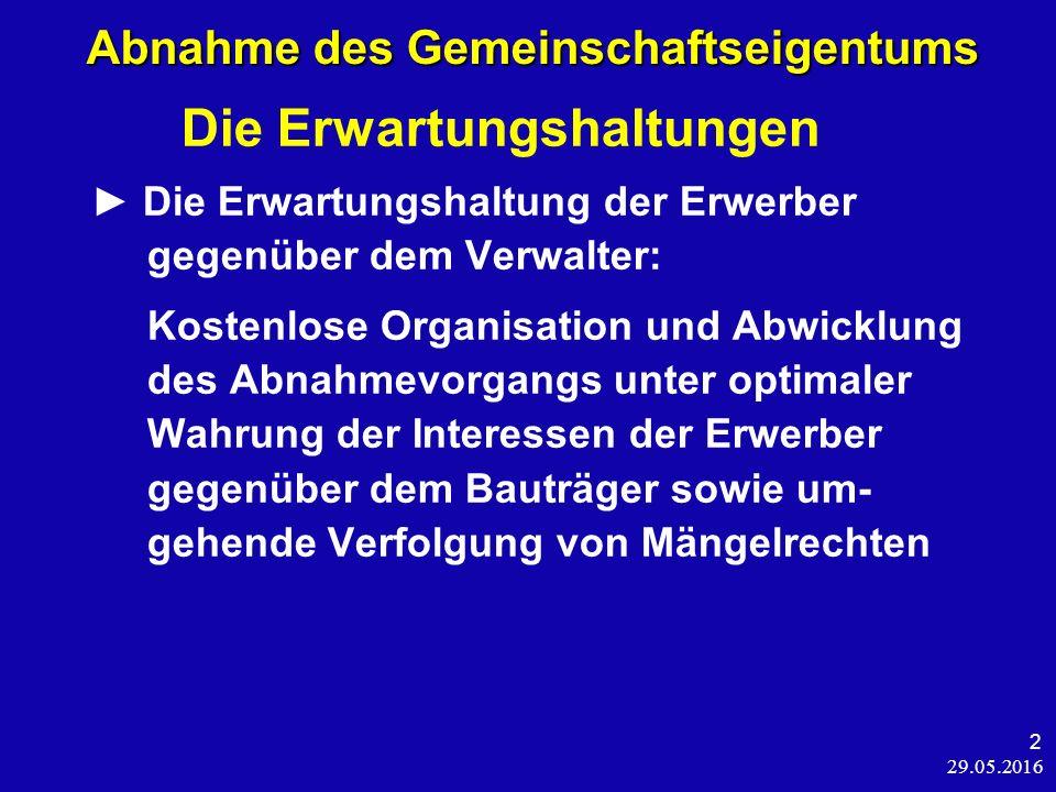 29.05.2016 53 Individualrechte und die WEG Individualrechte und die WEG Hügel/Elzer, WEG 2015, § 21 Rn.